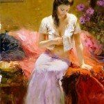 Sensual Painting by Pino Daeni