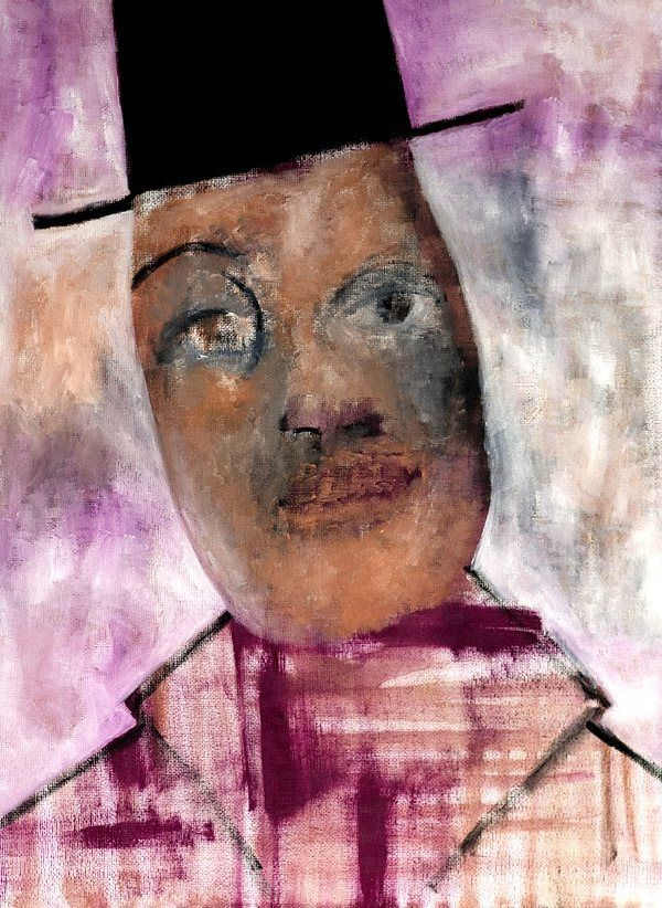 Posh Man Expressionist painting by Edgeworth Johnstone
