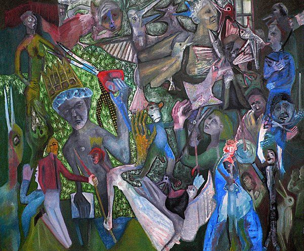 Orchestra Expressionist painting by Edgeworth Johnstone