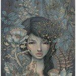 Audrey Kawasaki's One-of-a-Kind Wood Panel Paintings