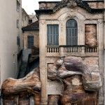 Uniquely Disturbing Wooden Installations by Henrique Oliveira