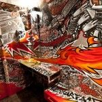 Colorful Closet Graffiti by French Artist DeckTwo