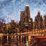 Cityscapes On A Cloudy Day by  Eugene J. Paprocki