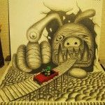 Come Closer – Creepy 3D Drawings by Nagai Hideyuki