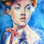Watercolor Portraits by Lana Khavronenko