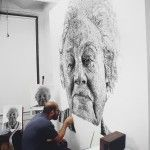 Fingerprint Paintings by Chuck Close