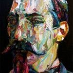 Men and Mustaches – Expressionist Paintings by Aaron Smith