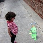 Streetwalkers – Chalk Art by David Zinn