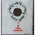 Think Different – Sassy Street Art by Ladamenrouge