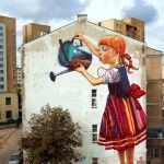 Sweet Street Art by Natalia Rak