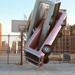Creative Car Crash – Gymnastic Automobile Installations by Chris LaBrooy