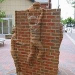 Crawling Out of the Walls – Brick Sculptures by Brad Spencer