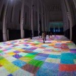 Magic Carpets – Interactive Light Show by Miguel Chevalier