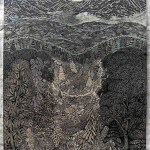 Overlook – Intricate Woodcut by Paul Roden and Valerie Lueth