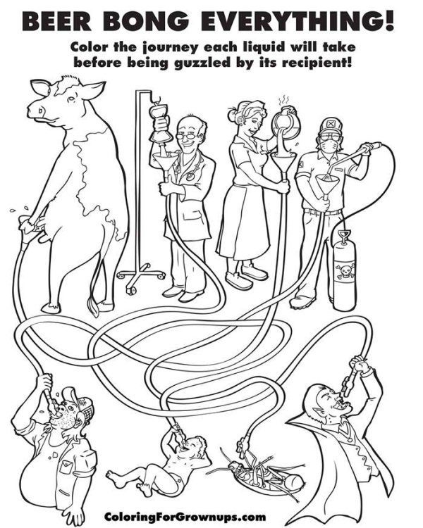 Hilarious Coloring Books for Adults by Ryan Hunter and Taige Jensen ...