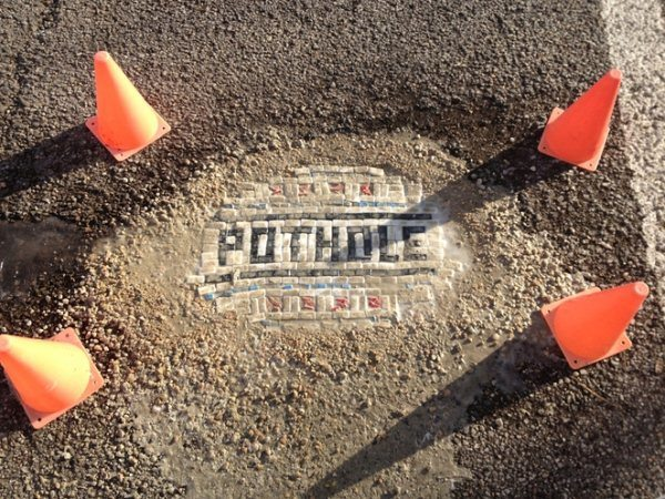 Jim Bachor Chicago Pothole Mosaics