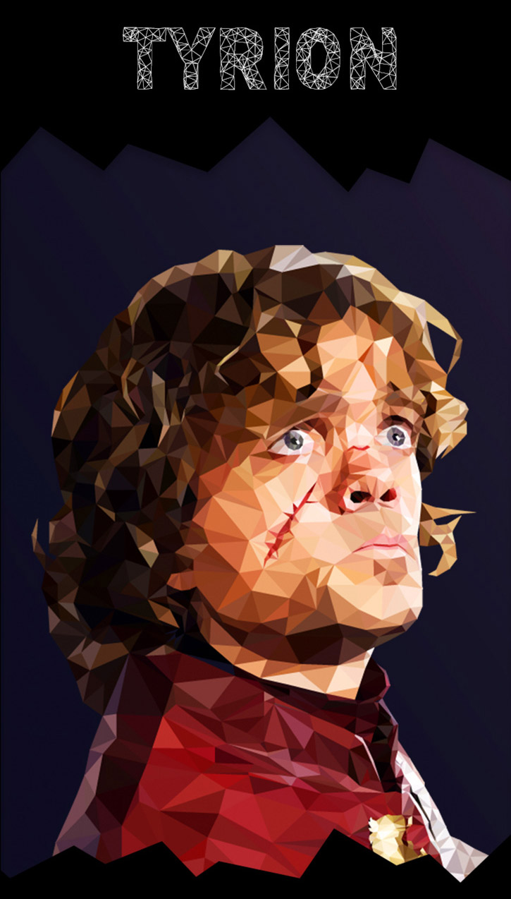 Tyrion Lannister Poly Art, Game of Thrones