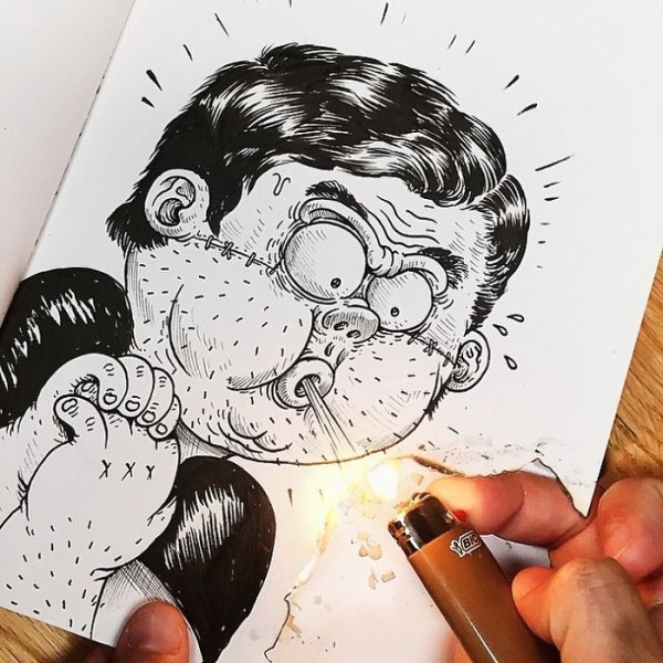 interactive funny illustrations