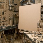 Painter Tom Burckhardt FulFills Childhood Fantasy with Cardboard Studio