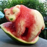 Watermelon Food Sculptures by Clive Copper