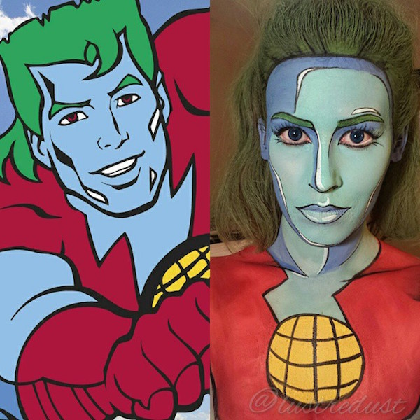Superhero Face Painting by Lianne Moseley