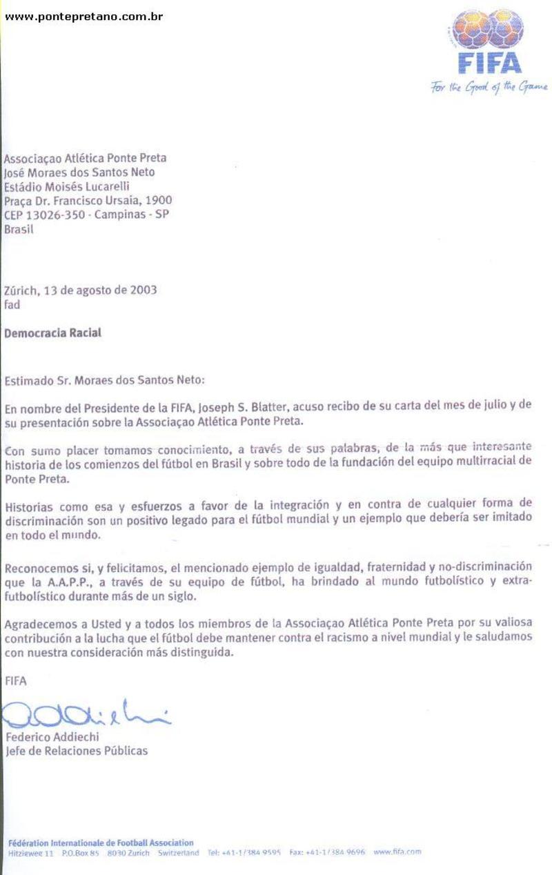 Carta da FIFA