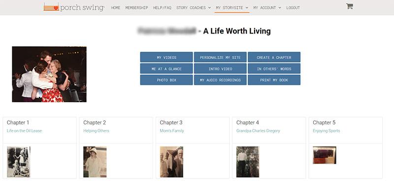 My Storysite Mockup