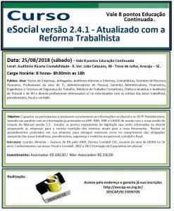 Curso eSocial versão 2.4.1 - Atualizado com a Reforma Trabalhista
