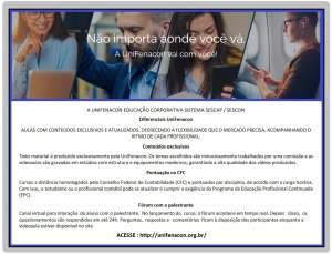A UNIFENACON EDUCAÇÃO CORPORATIVA SISTEMA SESCAP / SESCON