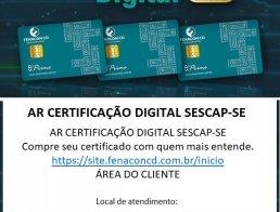 AR CERTIFICAÇÃO DIGITAL SESCAP-SE