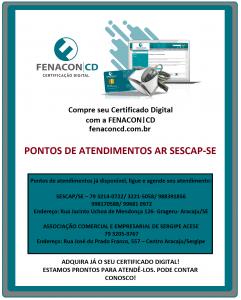 PONTOS DE ATENDIMENTOS AR SESCAP-SE