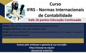 Curso IFRS - Normas Internacionais de Contabilidade 16 Pontos Educação Continuada