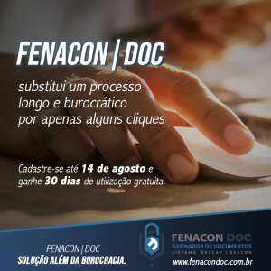 FENACON|DOC: SOLUÇÃO ALÉM DA BUROCRACIA