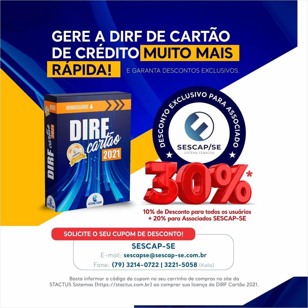 PARCERIA SESCAP/SE E STACTUS SISTEMAS: DIRF 2021