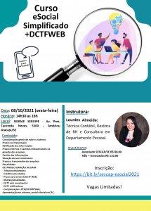 Curso: eSocial Simplificado+DCTFWEB