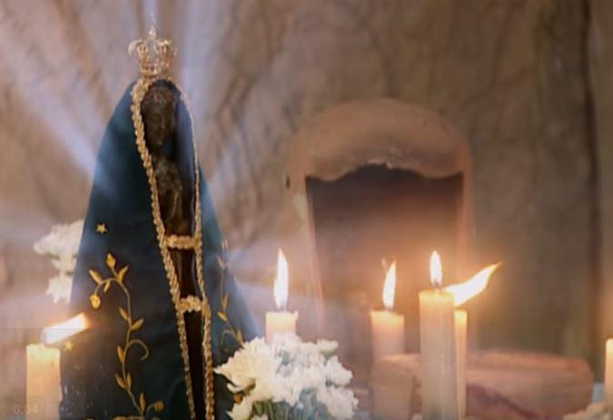 Faustino tem um pedido para Nossa Senhora