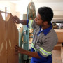 Preparação dos móveis para Novena e Festa da Padroeira do Brasil
