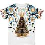 Camiseta Nossa Senhora Aparecida Floral