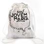 MOCHILA BRANCA ICONES JOVENS DE MARIA - R$ 14,90