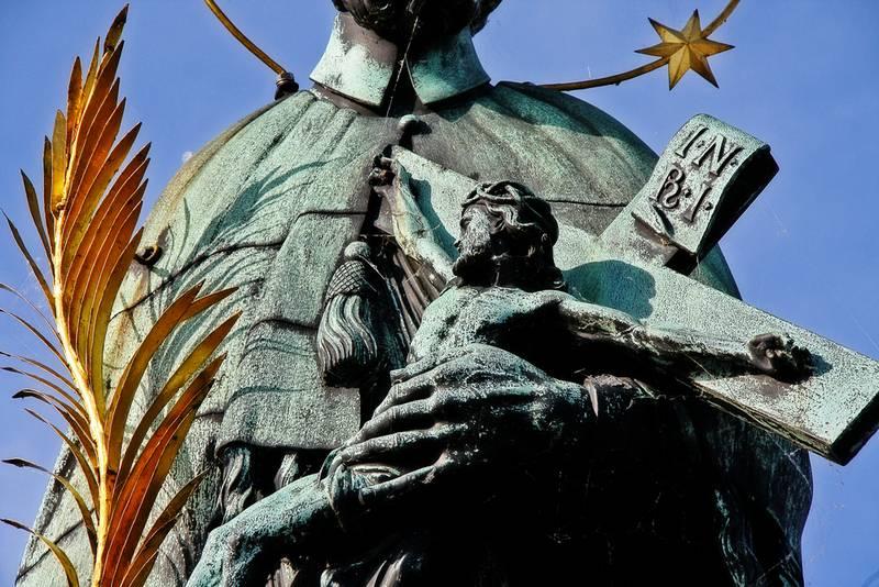 Estátua de São João Nepomuceno, santo redentorista, na República Checa.
