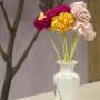 Vasos de flores de fita