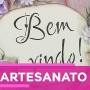 """Placa """"Bem Vindo"""" com Célia Bonomi - 19 de abril de 2018"""