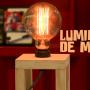 Luminária de madeira