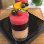 Arroz doce de chocolate e frutas vermelhas