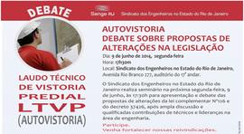 SENGE-RJ convida para seminário de autovistoria