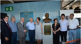 SENGE-RJ inaugura novo busto de Rubens Paiva