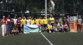 Mulheres batem um bolão na abertura da 3ª Copa Senge - RJ de Futebol Society