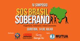 Curitiba sedia o 4º Simpósio SOS Brasil Soberano, em julho