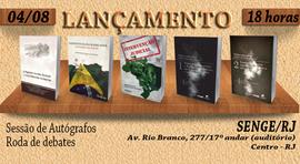 Lançamento coletivo, noite de autógrafos e debates no SENGE-RJ