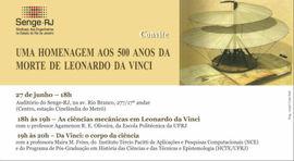 Dia 27, no Senge-RJ, a importância do corpo no humanismo de da Vinci